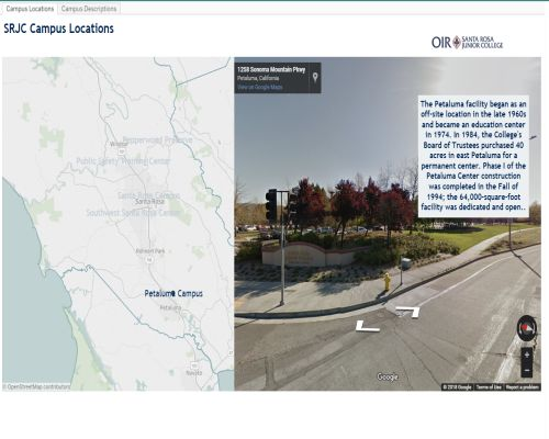 SRJC Campus Locations - link